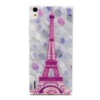 Cover Huawei Ascend P7 plastic transparent Gelatina Eiffel tower