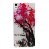 Cover Huawei Ascend P7 plastic transparent Gelatina Tree
