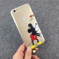 Cover  Iphone  6S plastic Transparent Mickey Toon