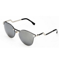 Crystal Vintage Sunglasses for Women (Silver mercury)