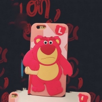 Cover  Iphone 6 Plastic Rubber Pink monster.