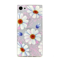 Cover Sony Z5 Mini transparent plasticis flowers