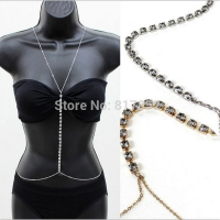 Body jewelry - chains simple stone exciting rhinestones