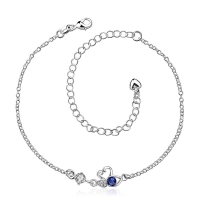 Anklet silver plated - goose