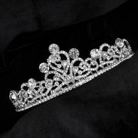 Bride crown encrusted with crystals