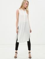 women long  shirt  white color