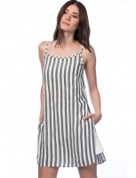 Women's striped shirt without sleeve