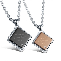 couple necklace (the world is bright because of you)