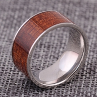 Men ring - Color wooden