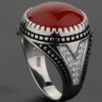 Mens Silver Ring 925