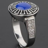 Men's silver ring 925 caliber with CZ