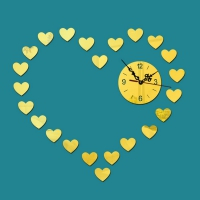 Wall clock with a stylish and attractive form