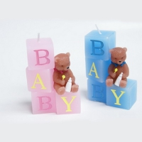 Bear candle cubes