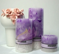 Candles perfumed serenity and romance