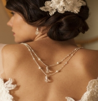 Multiple layers of the back necklace