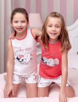 Pajama children aged 4 to 7 years old