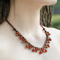 Necklace a strand - antique handmade art