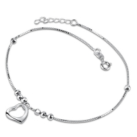 A simple silver anklet 2 g  For girls