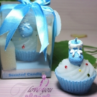 Cupcake candle for children