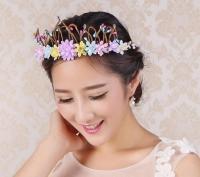 The elegant crown of flowers
