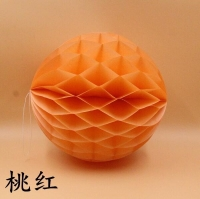 Decorative balls color gradients orange size 30 cm