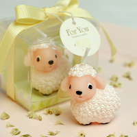 Little lamb candle for children
