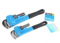 BERENT Pipe Wrench 350mm With Soft Grip Handle.