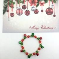 Beautiful bracelet in Christmas colors