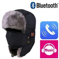 Hat with Bluetooth Headphones - Black