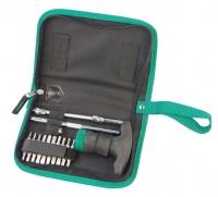 24Pc. T-handle Ratcheting Screwdriver Set