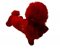 A red cotton dog