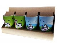 happi family set cups Plastic x4pcs