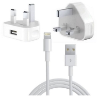 Plug Charger and Cable Power Adapter 3-Pin for iPhone