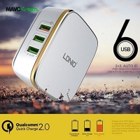 LDNIO A6704 Qualcomm Fast Quick Charger 6 Port USB Charger