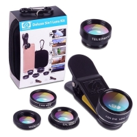 Deluxe Universal 5in1 Camera Lens Kit for Smartphone Tablet