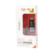 Car Charger for Type C 1 meter with fast Charging 3 AMP Tiger DC-098