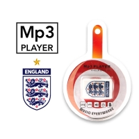 MP3 player with England Club with a headset
