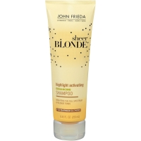 Shampoo treats and maintains blond hair