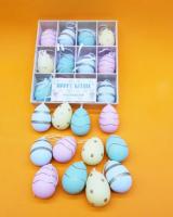 Punk colored plastic eggs
