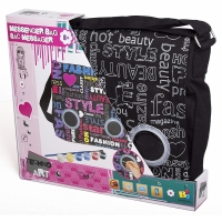 Techno Art Messenger Bag
