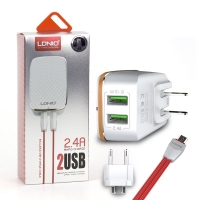 LDNIO A2204 Charge Dual USB with USB Cable for android 2.4A