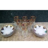 Cup of tea glass x6pcs