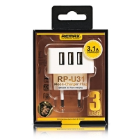 Wall Charger Travel 3 USB REMAX RP-U31 3.1A