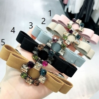 Crystal flower hair clip