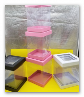 Box transparent 3 pieces