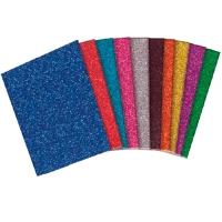 Glitter Adhesive Small Paper - 10 Pcs