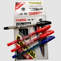 Set dry pens in black  blue and red color number 50