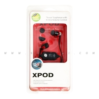 XPOD Round Ear Headphones  Black