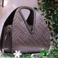 leather guess brand hand bag