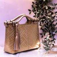 leather guess brand handbag